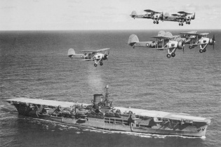 Fairey Swordfish & HMS Ark Royal