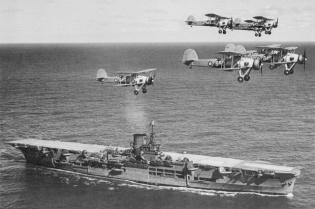 Fairey Swordfish & HMS Ark Royal