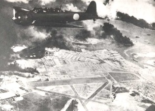 Pearl Harbour 7 Dec 1941 - Nakajima B5N2 over Hickam Field