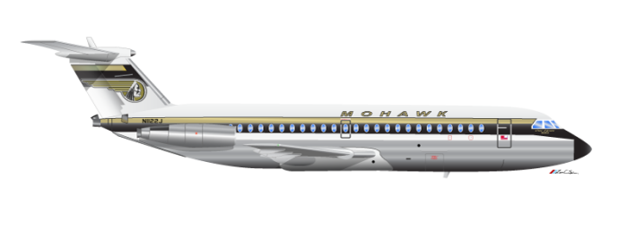 Mohawk Airlines BAC One-Eleven 1972