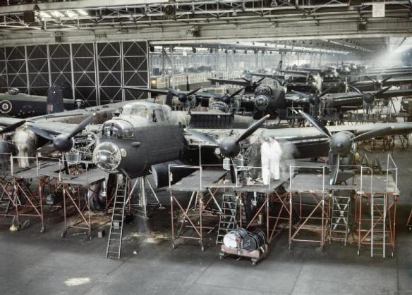 Avro Lancasters Being Manufactured at AV Roe & Co Ltd Factory 1943