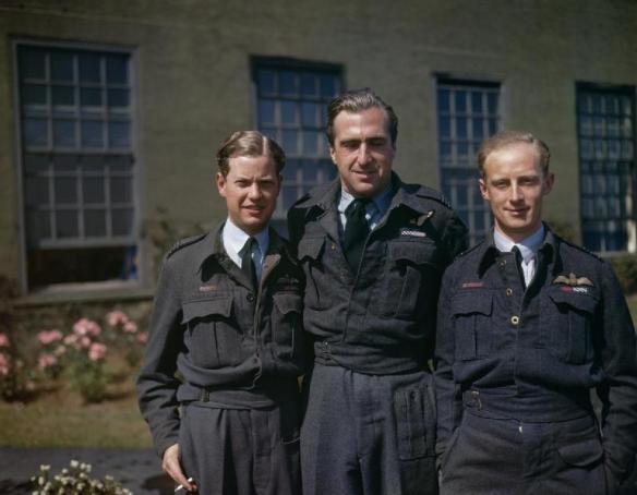 Flight Lieutenant Dave Shannon, Flight Lieutenant RD Trevor-Roper, Squadron Leader GW Holden - 617 Squadron 22 July 1943