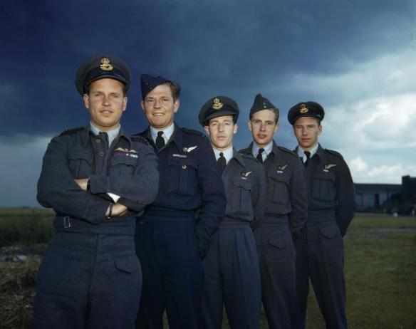 Guy Gibson and Dambuster Crew Members 22 July 1943