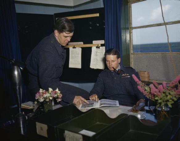 Wing Commander Guy Gibson and Squadron Leader DJH 'Dave' MaltbyRAF Scampton July 1943